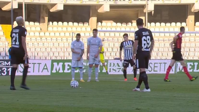 Ascoli-Entella 1-1, Sabiri (con la complicità di Borra) evita un altro ko al Picchio che finisce in 9