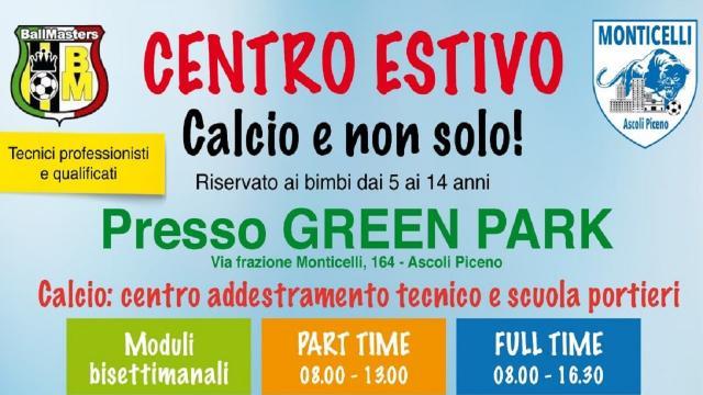Monticelli Calcio e Ballmasters, parte il campo estivo presso il Green Park