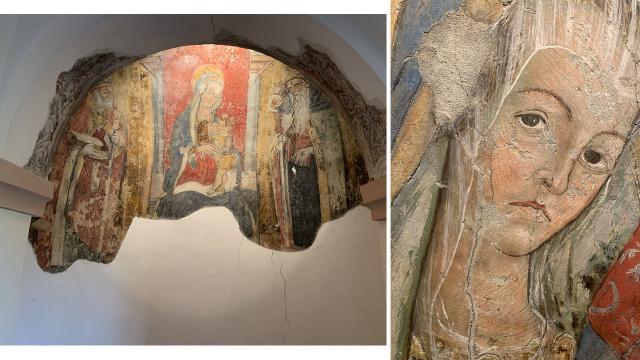 Castignano, grazie ai fondi del Circolo Acli 'Achille Grandi' tornerà a splendere la Madonna del Latte di Crivelli
