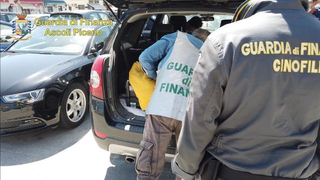 Guardia Finanza Ascoli intercetta spedizione di marijuana dalla Spagna alla Basilicata