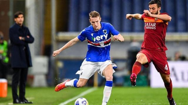 Sampdoria-Roma 2-0, highlights. Sesto gol in campionato per Jankto