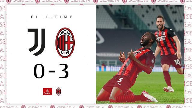 Juventus-Milan 0-3, highlights. Pirlo: ''Continuo il mio lavoro finchè mi sarà consentito''