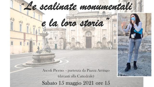"""Ascoli Piceno, tour cittadino """"Le scalinate monumentali e la loro storia"""". Con Acli Marche in un itinerario insolito"""
