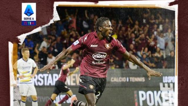 Salernitana-Verona 2-2, highlights. Primo punto per i granata di Castori