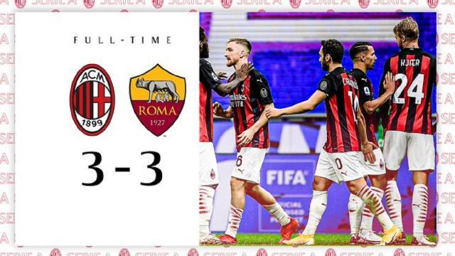Milan-Roma 3-3, highlights