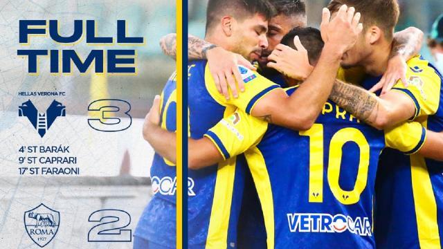 Verona-Roma 3-2, highlights. Tudor esordisce in gialloblù battendo Mourinho