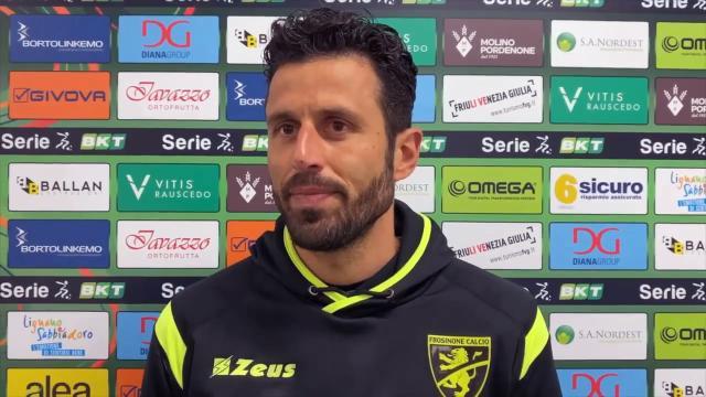 """Pordenone-Frosinone 2-0, voci Domizzi (""""Vittoria fondamentale"""") e Grosso (""""Serve esame di coscienza"""")"""
