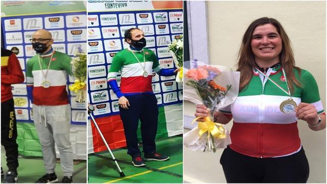 Tris di titoli tricolori per il paraciclismo marchigiano: Farroni, Stacchiotti e Cretti