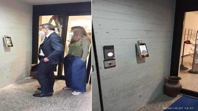 San Benedetto: Municipio, installato il primo dei 10 termoscanner digitali