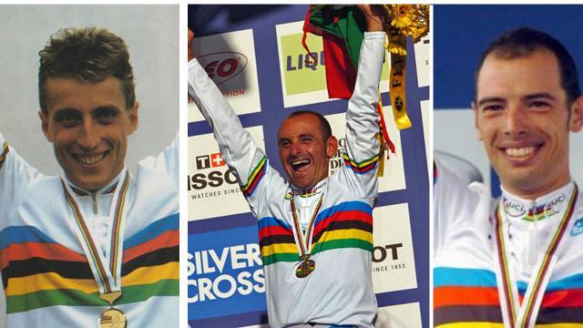 Giro d'Italia: ad Ascoli Piceno pedalata amatoriale con i campioni del mondo Fondriest, Bettini e Ballan