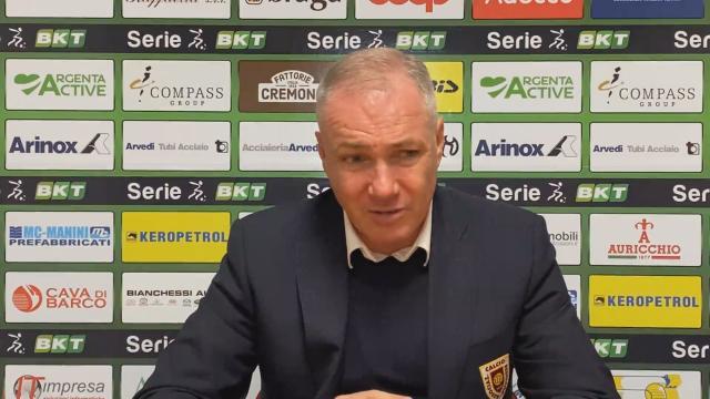 """Cremonese-Reggiana 3-0, le voci di Pecchia ed Alvini (""""Espulsione ci ha complicato le cose"""")"""