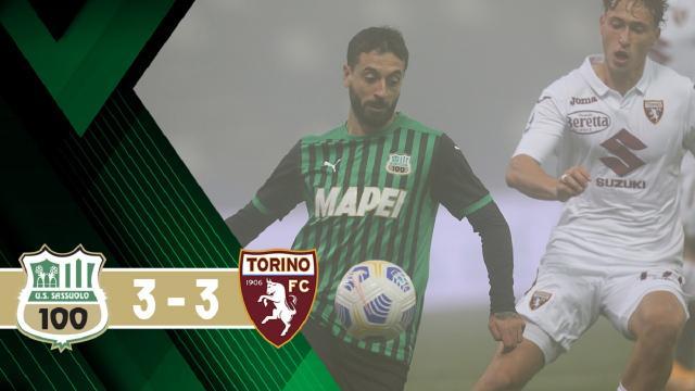 Sassuolo-Torino 3-3, highlights