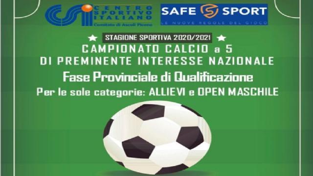 CSI Ascoli Piceno, riparte a Giugno il calcio a 5 Allievi e Open