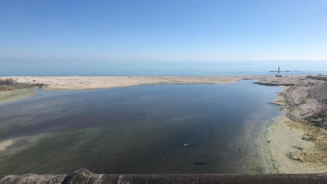 Grottammare, nuovi interventi al lato est della Terrazza sul mare alla foce del torrente Tesino