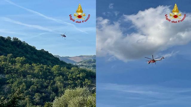 Vigili del Fuoco, intervento a Venarotta per incendio che ha coinvolto 6 ettari tra bosco e conifere
