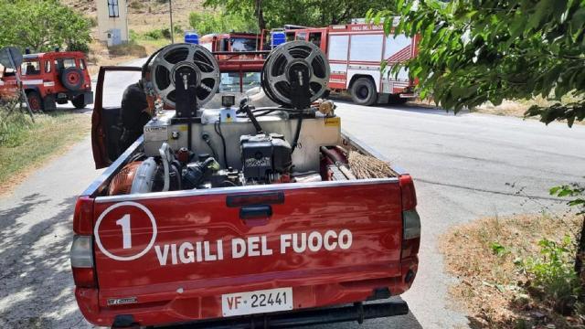 Vigili del Fuoco, intervento per vasto incendio a bosco a Tre Camini di Campofilone