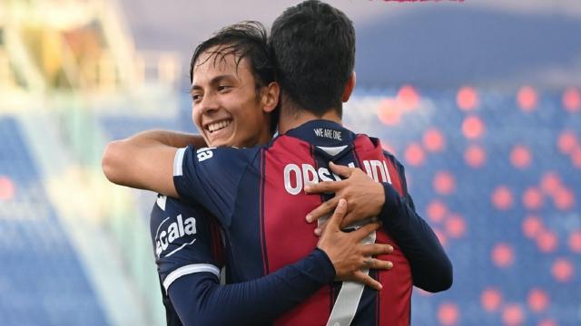 Coppa Italia, l'Entella supera il Pisa nel derby cadetto. Bologna-Reggina 2-0, in gol anche Orsolini