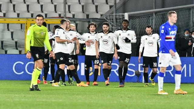 Spezia-Sampdoria 2-1, highlights