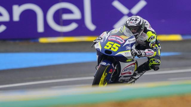 Moto3, prime libere sotto la pioggia a Le Mans per Fenati: ''Abbiamo lavorato molto bene''