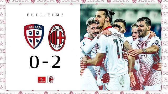 Cagliari-Milan 0-2, highlights
