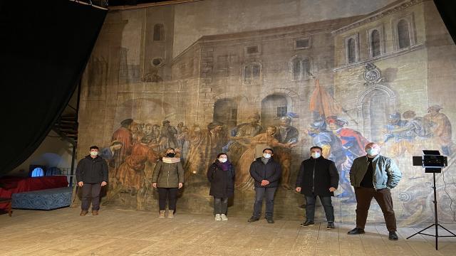 Ripatransone: Teatro Mercantini, entrano nel vivo attività di restauro Sipario Storico