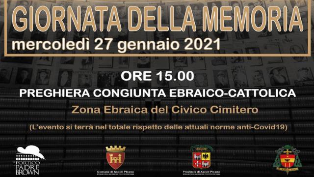 Ascoli Piceno, le iniziative allestite per la ''Giornata della Memoria'' 2021