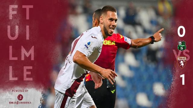 Sassuolo-Torino 0-1, highlights