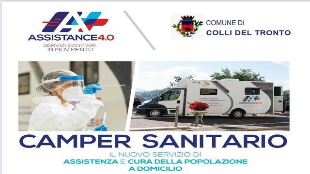 Camper sanitario a Colli del Tronto. Tamponi ed altri servizi per la popolazione
