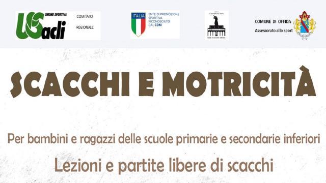 Unione Sportiva Acli Marche: scacchi e motricità, quattro appuntamenti ad Offida