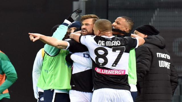 Udinese-Sassuolo 2-0, highlights