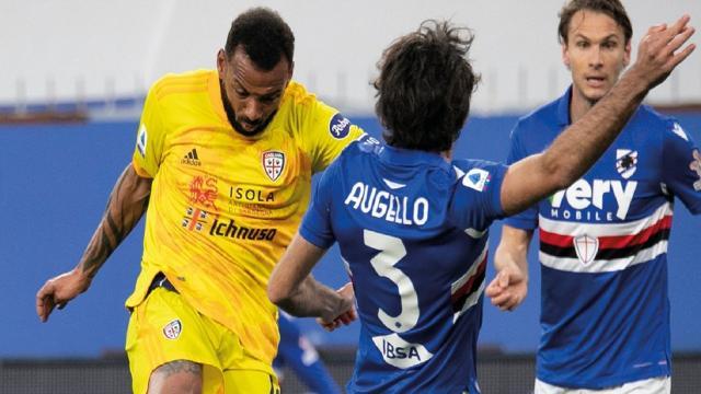 Sampdoria-Cagliari 2-2, highlights