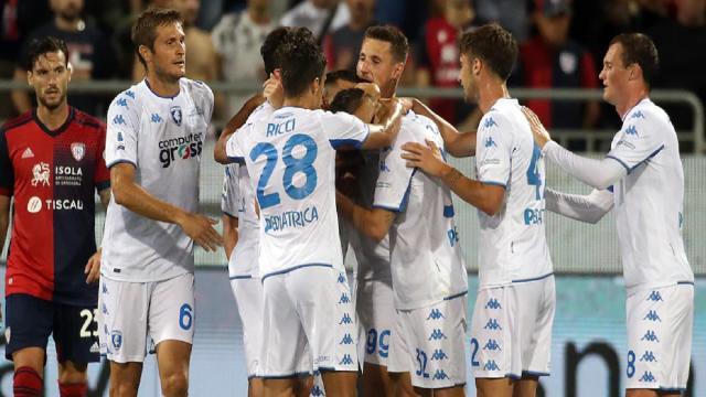 Cagliari-Empoli 0-2, highlights