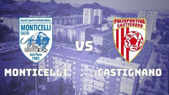 Coppa Italia Promozione: il Monticelli batte 4-0 il Castignano e supera il turno