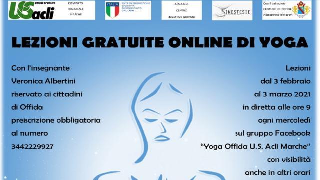 Progetto ''Il valore sociale dello sport'', ad Offida corsi online di yoga e scacchi