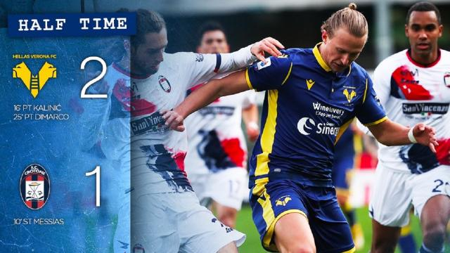 Verona-Crotone 2-1, highlights