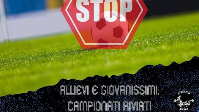 Coronavirus, rinviate le gare d'esordio degli Allievi e dei Giovanissimi dell'Atletico Ascoli