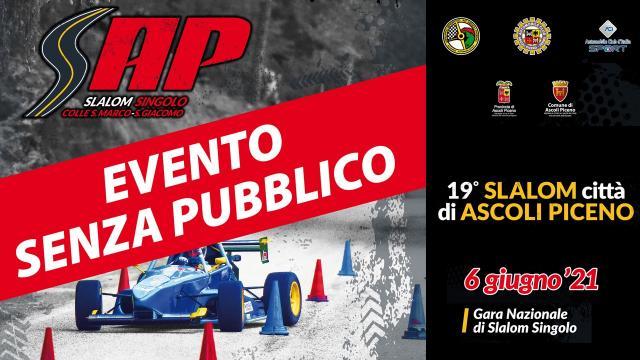 Slalom ''Città di Ascoli Piceno'', sono circa 40 gli iscritti. Edizione 2021 senza pubblico