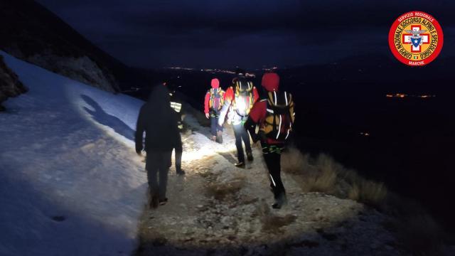Monte Sibilla, soccorsi due ragazzi di Rimini in difficoltà per il maltempo