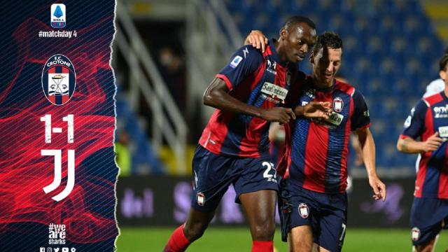 Crotone-Juventus 1-1, highlights