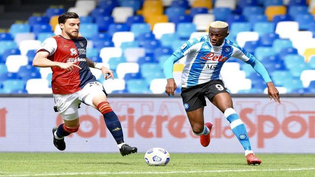 Napoli-Cagliari 1-1, highlights