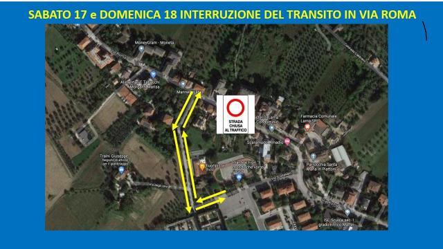 Castel di Lama, chiusa Via Roma nel weekend per demolizione edificio danneggiato da sisma
