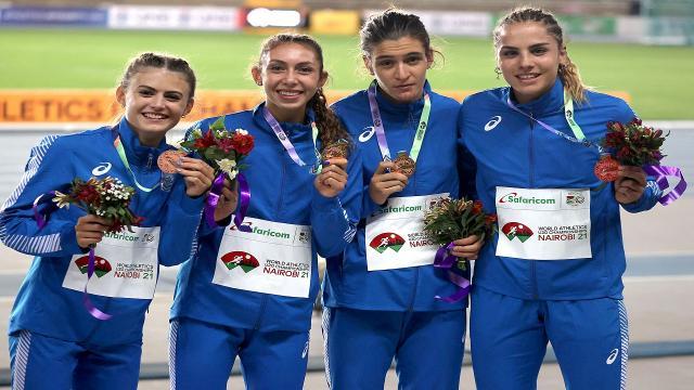 Atletica leggera, splendido bronzo per la marchigiana Ghergo nella 4x400 ai Mondiali Under 20