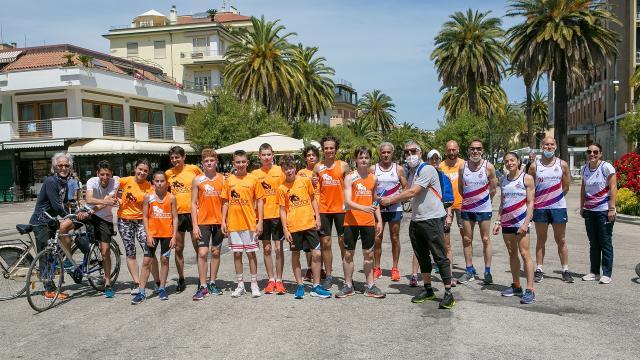 ''Run4Hope'', Giro d'Italia podistico benefico ha fatto tappa a San Benedetto